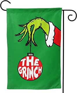 SARAH SCOTT The Grinch Premium Material Garden Flag Seasonal Holiday Decoration Double Sided Outdoor Flags for Garden Yard Lawn 12.5