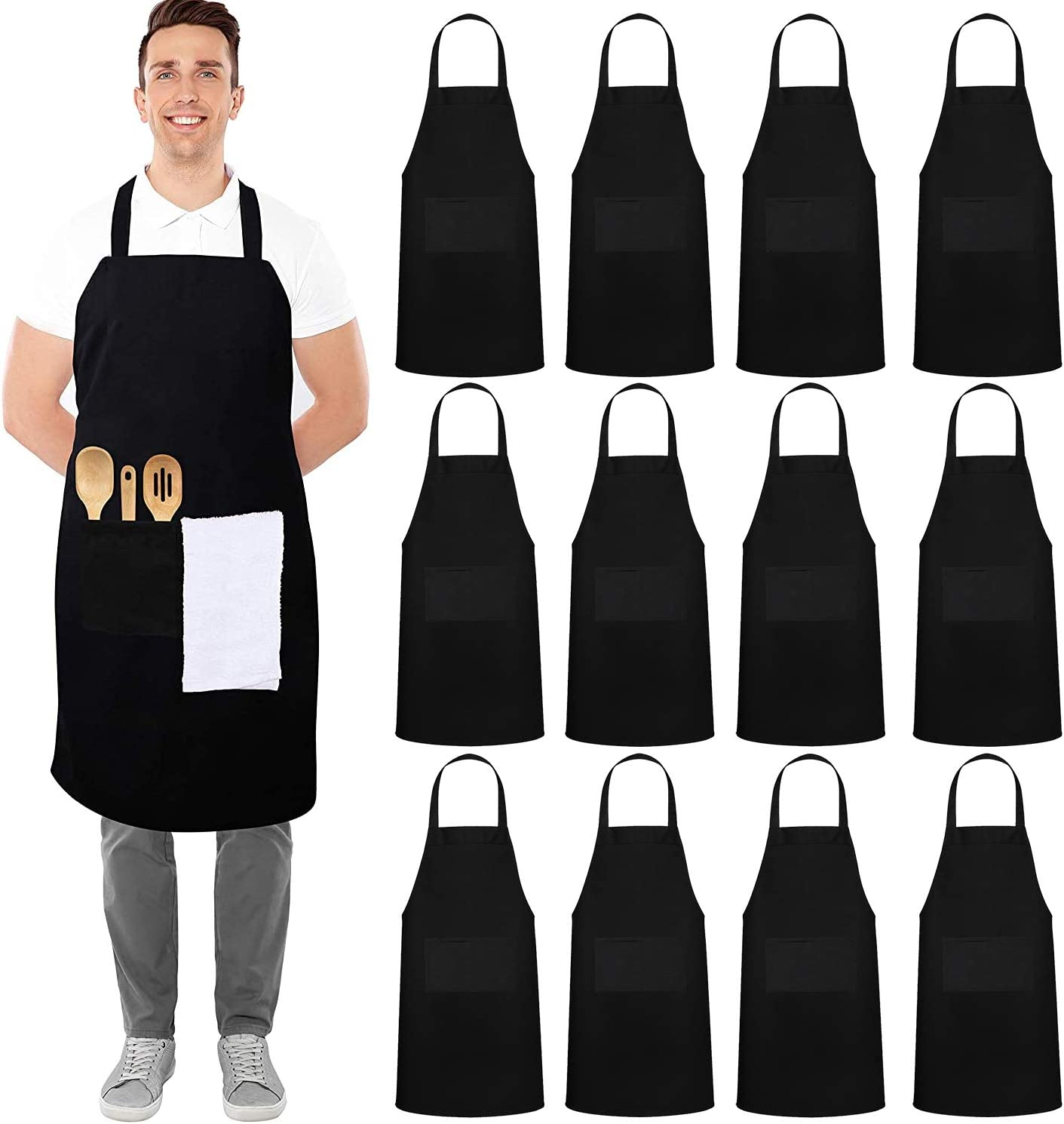 Kitchen Apron With Pocket Cooking Store Men Chef Manufacturer OFFicial shop For