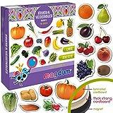 MAGDUM Frutas&Bayas&Verduras Imanes Foto Real de Pizarra Infantil para...