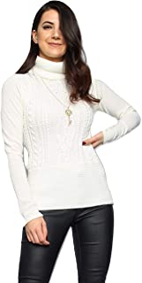 2a13768189 Momo Ayat Fashions Ladies Necklace Chain Roll Neck Peplum Knitted Jumper US  Size ...