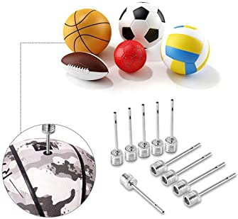 25 Pieces Ball Pump Needle, Stainless Steel Air Inflation Needle for Sports Balls, US Standard Replacement Needles wi...