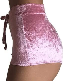 Lady's Soft Velvet Shorts Hot Pants Drawstring Shorts Club Shorts