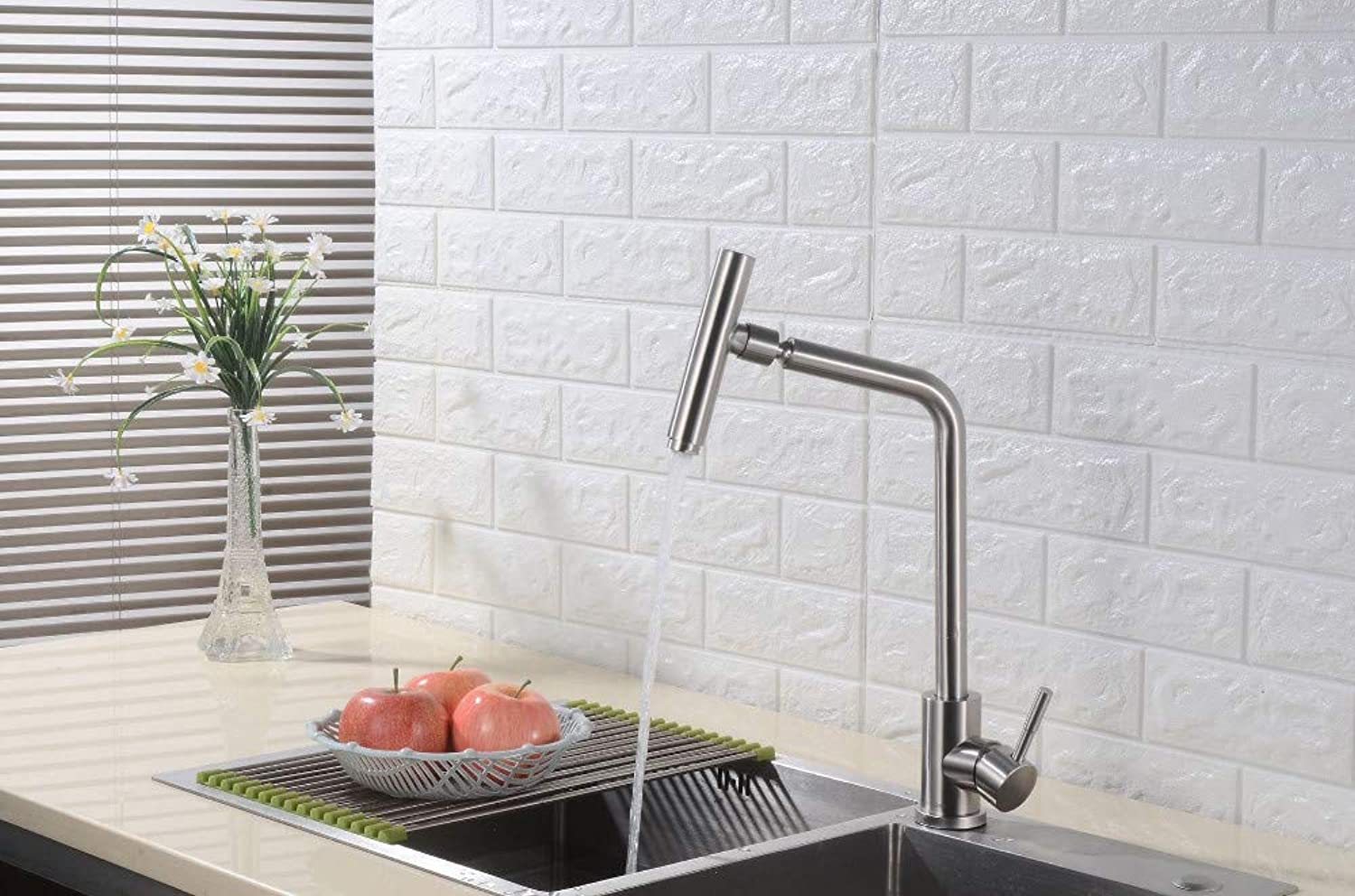 Stainless Steel Brushed 304 Million to The Sink Sink Dish Sink Faucet Kitchen Single Hole Hot and Cold
