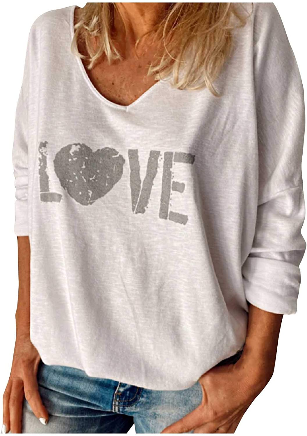 SSZZoo Women Fashion V-Neck Socket Sl Long Popularity Printing Leisure New product type Time