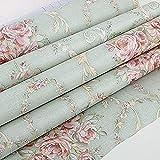 Lvcky Vintage Blume Regal Liner Kommode Schublade Aufkleber selbstklebend Schrank Schreibtisch Kontaktpapier Grün-Rose