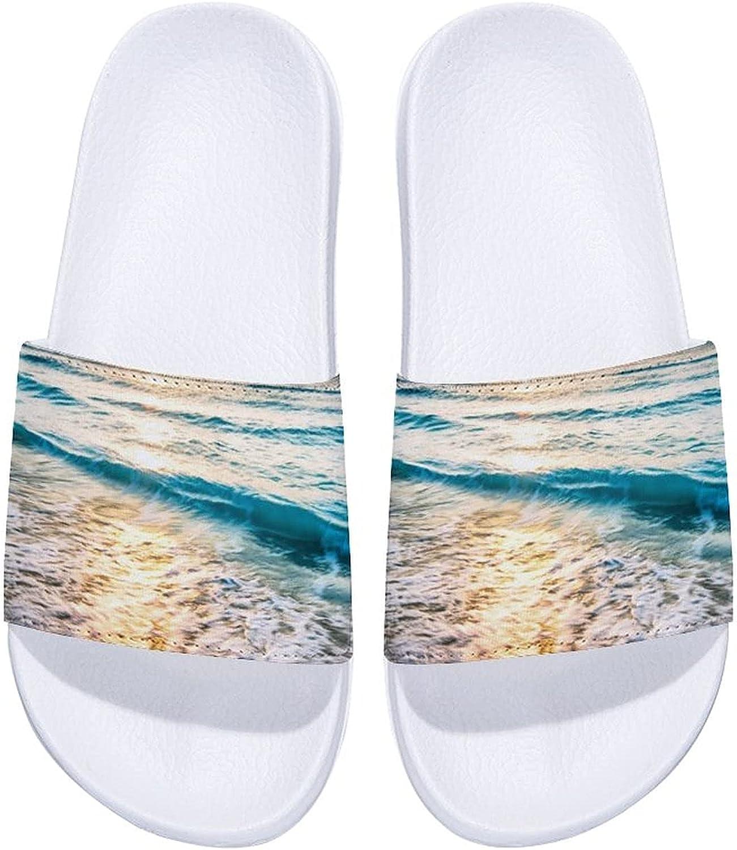 Oceans Sunsets Waves-1 Men's and Women's Comfort Slide Sandals Indoor Outdoor