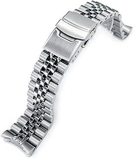 MiLTAT 22mm Watch Band for Seiko SKX007 SKX009 SKX171 SKX173, Super-J Solid Screw-Links