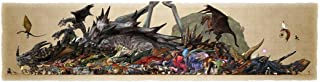 Monster Hunter Poster by Silk Printing # Size about (140cm x 35cm, 56inch x 14inch) # Unique Gift # CD66F2