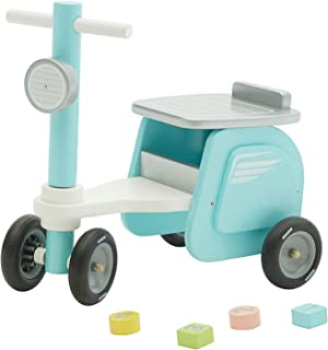 【New】labebe - Blue Ride On Toy, Kid Ride-On Motorcycle for 1-3 Years Old, Boy&Girl Sit Ride Push Toy, Wooden Motor Ride, Child Wood Balance Bike,Indoor&Outdoor Walker Toy Ride, First Birthday Gift