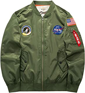 Men's Bomber Flight Jacket with Patches
