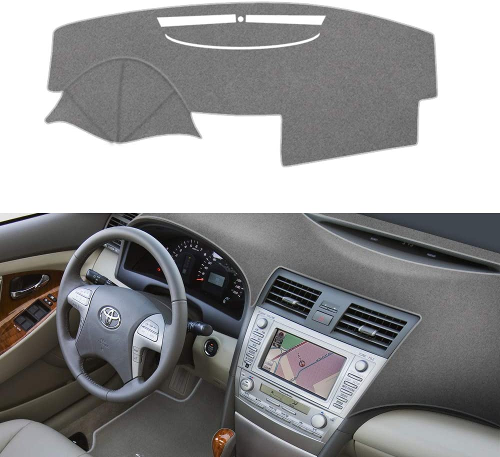Dash Mat Fit for Toyota camry 2007-2011 carpet dashboard cover in black grey