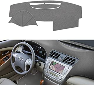 SAILEAD Car Dashboard Dash Board Cover Mat Fit for Toyota Camry 2007,2008,2009,2010,2011 (Upgrade Version No Need Velcro,Gray)