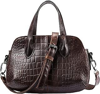 New Leather one Shoulder Slung Handbag Fashion Mini Bag Candys house (Color : Brown)