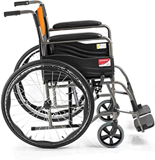 Wheelchairs for Adults,Folding Transport Chair with Handbrakes,Ultra Lightweight Manual Wheel Chair for Travel and Storage...