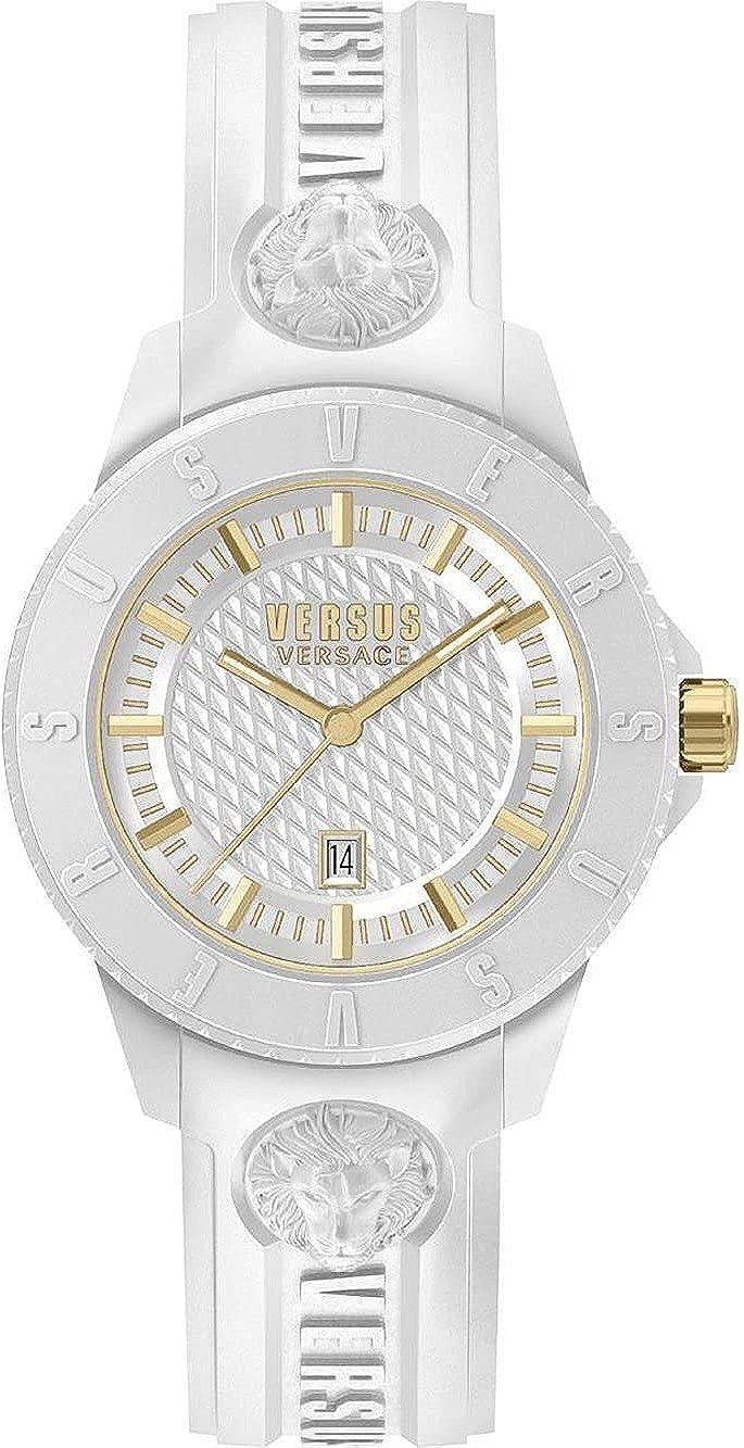 Versus Versace Tokyo - Reloj de pulsera para hombre (42 mm, correa de silicona)
