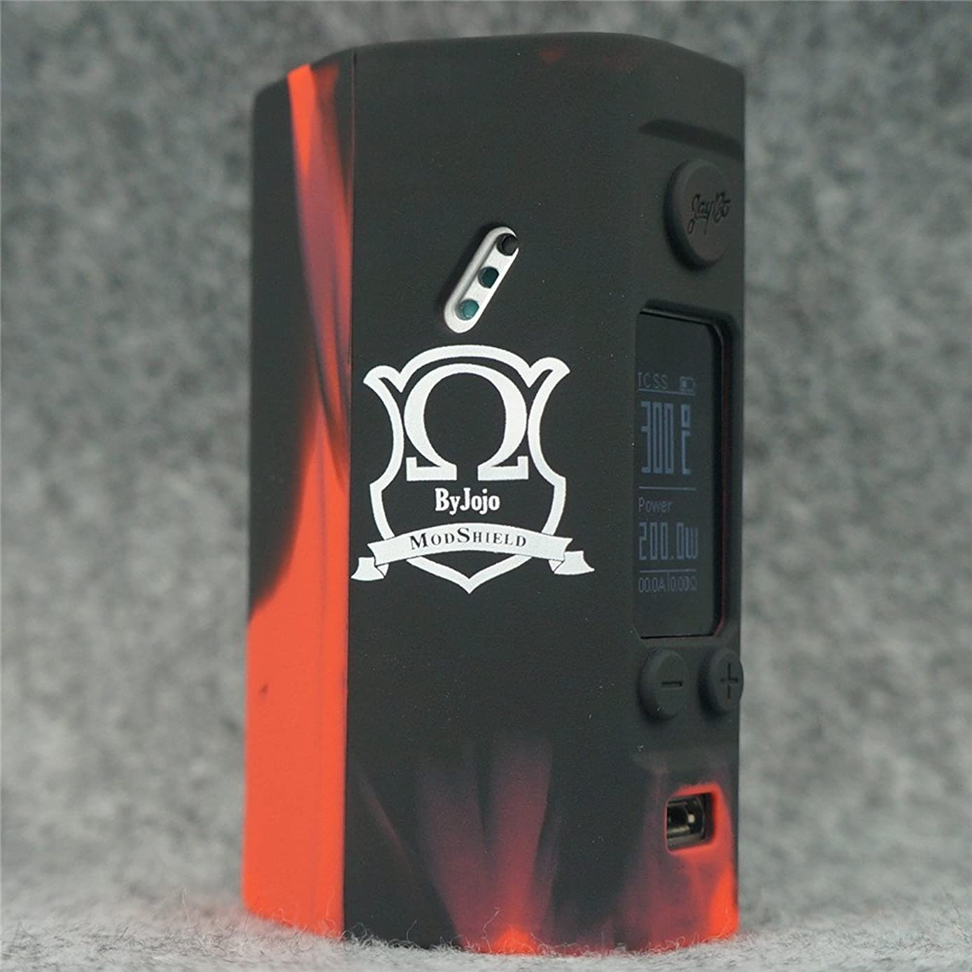 Silicone Case for Wismec Reuleaux RX200S MOD SHIELD ByJojo Skin RX 200 S Sleeve Cover Wrap (Red/Black)