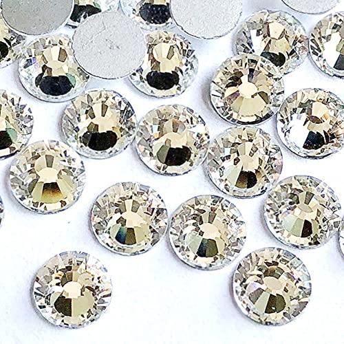 Modis Rhinestone SS2-SS50 blanco plana de cristal de la parte posterior del diamante para las decoraciones del arte del clavo del teléfono Shell Stick del taladro DIY Accesorios de la joyería