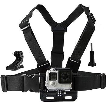 Eyeon Cinturino Cintura Petto Imbracatura Supporto per Petto con Gancio per GoPro Hero 7/6/5/4/3, Hero 2018, Xiaomi YI, SJCAM, Campark, Victure, Crosstour, Apeman Action Camera