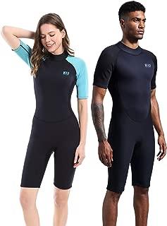 Dark Lightning 2mm Wetsuit Women, Women's Shorty Wet Suit Premium Neoprene Kids 2mm One Piece Wet Suits Fishing, Diving,Surfing, Snorkeling