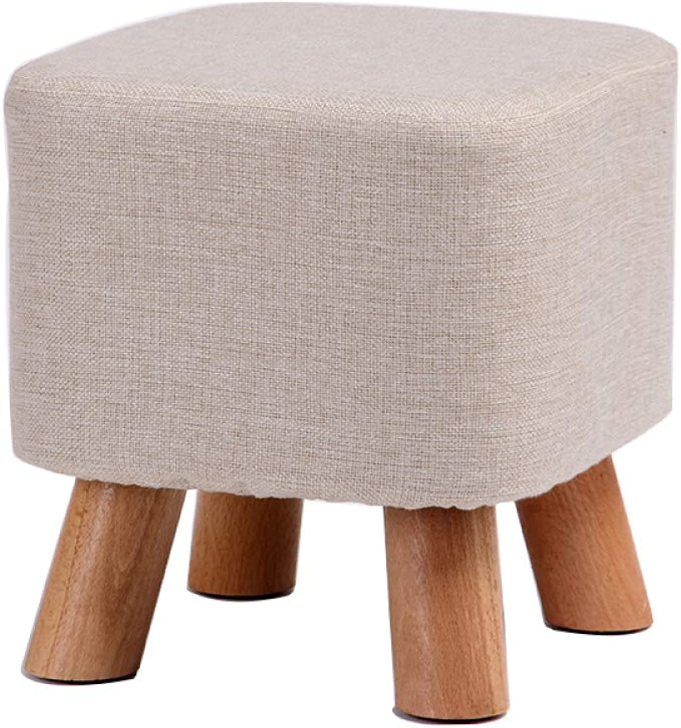 SSHHI Stool,Cloth Beech Four feet Square Comfortable Stools,Change shoes Bench Living Room Bedroom Multifunction Household