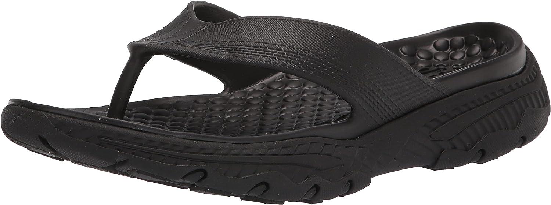 Skechers USA Men's Men's Flip-Flop, Black, 9