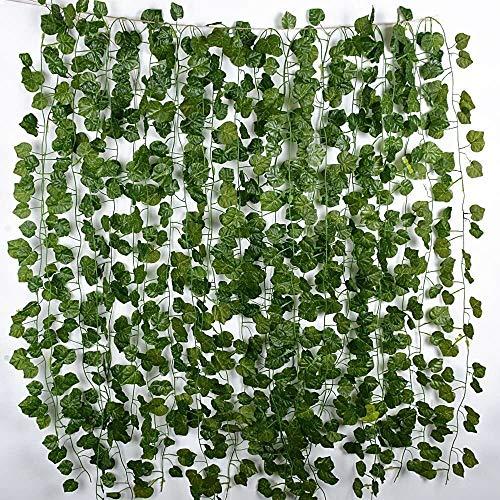 12 Tiras Hiedra Artificial 2 M Plantas Artifi