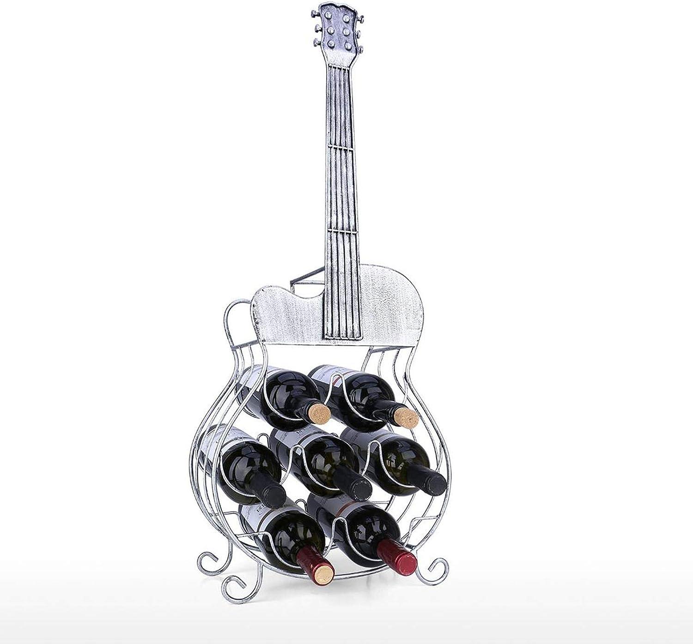 QIQIDIAN Estante De Vino De 7 Botellas, Decoración Grande para Guitarra, Moderno, Exhibición De Artesanía Y Almacenamiento, Decoración del Hogar