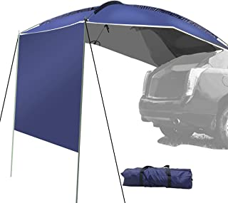UBOWAY Awning Sun Shelter - Waterproof Auto Canopy Camper Trailer Tent Roof Top for SUV, MPV, Hatchback, Minivan, Sedan, Camping, Outdoor,5-6Persons