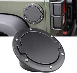 For 07-2014 Jeep Wrangler JK 2 Door Black Fuel Filler Door Cover Gas Tank Cap