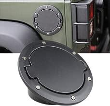 Fuel Filler Door Cover Gas Tank Cap for 2007-2017 Jeep Wrangler JK & Unlimited 4-Door 2-Door
