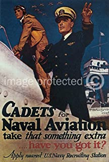 AGS - Cadets for Naval Aviation Vintage World War II Two WW2 WWII USA Military Propaganda Poster - 24x36