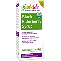 Gaia Kids Black Elderberry Syrup 3-Oz. for Daily Health Immune Support