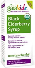 Gaia Herbs, Gaia Kids Black Elderberry Syrup, Delicious Daily Immune Support with Antioxidants, Organic Sambucus Elderberry, 3 Ounce