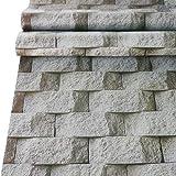 Papel pintado de vinilo con textura de piedra, papel pintado Peel & Stick autoadhesivo, diseño de roca gris, papel de impresión para decoración de pared