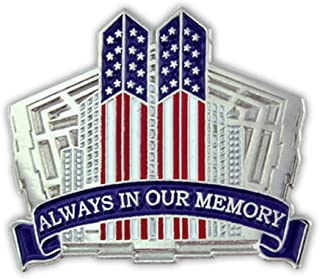 PinMart 9/11 September 11th Always in Our Memory Twin Towers Lapel Pin