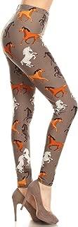 Women's Buttery Soft Classic Fashion Print Leggings BAT4