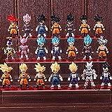 Figura de acción Dragon Ball Goku Son Goku Vegeta Friends Vegett PVC Colección de Anime Figura Modelo de Juguete 21pcs / Set