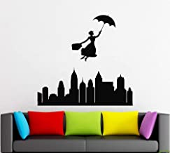 Mary Poppins Wall Decals Decor - Mary Poppins Quotes Art Stickers Decorations - Vinyl Pictures for Office Studio Shop Home Kids Nursery Room Bedroom Door Window MP014