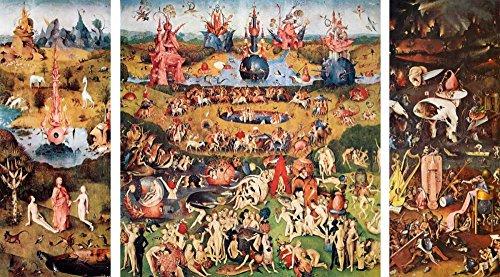 Feeling at home Impresion-en-Papel-Giardino-Delle-Delizie-Bosch,-Hieronymus-Figurativo-83_X_152_cm