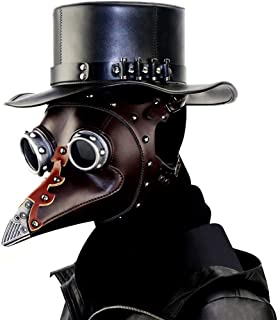 LFOZ Plague Doctor Mask Long Nose Beak Steampunk Halloween Costume Props Mask- Black (Color : B)