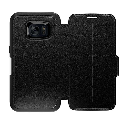 OtterBox Strada Series Schutzhülle für Samsung Galaxy S7, Phantom - Schwarz/Schwarz/Schwarz Leder, XXX-Large