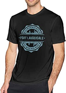 Men's Fort Lauderdale Florida Short Sleeve Cotton T-Shirts Jacket Tee Top