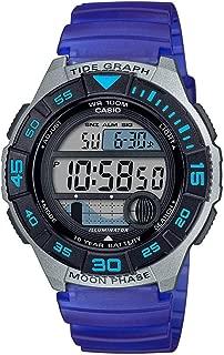 Men's 10 Year Battery Quartz Resin Strap, Blue, 22.8 Casual Watch (Model: WS-1100H-2AVCF)
