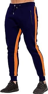 Men's Gym Jogger Pants Slim Fit Workout Running Sweatpants with Zipper Pockets