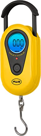American Weigh Scales AMW-SR-5 Yellow Digital Hanging Scale, 11 by 0.01 LB