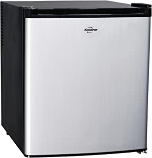 Koolatron KCR40B 1.7 Cubic Foot (48L) AC/DC Electric Heat Pipe Stainless Steel Thermoelectric Compact Fridge, cu. ft, Silver