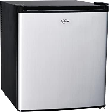 Koolatron KCR40B Fridge, 1.7 cu. ft, Silver