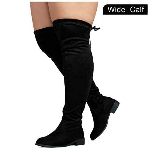 eb1332299ff RF ROOM OF FASHION Women s Wide Calf Over The Knee High Slouchy Boots