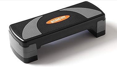 Basic Fit - Fitness Aerobic Step, Compact Step, Stepper - Verstelbaar In 3 Hoogtes - Anti-Slip