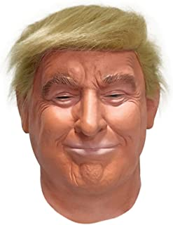 Realistic Celebrity mask-Republican Presidential Candidate Mask-Donald Trump Mask-Latex Full Head-Hair Orange,Adult Size